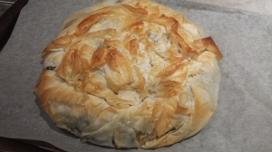 Silverbeet, feta and ricotta pie